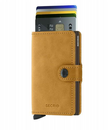 Miniwallet - Vintage - Ochre Yellow & Brown
